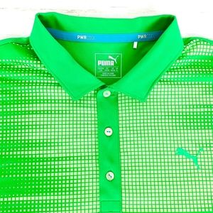 Puma Golf Men's PWRCool Dry Cell Golf Polo Green